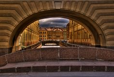 Arches of Petersburg Stock Photo