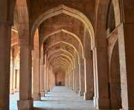 Arches and Pillars at Jami Masjid Mandav Royalty Free Stock Photography