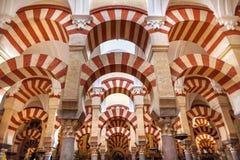 Arches Pillars Mezquita Cordoba Spain Stock Images