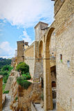 The arches of Pitigliano, famous village built on tuff of Tuscany Royalty Free Stock Photography