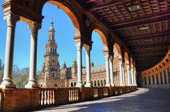 Arches in the Plaza de España in seville Royalty Free Stock Photo