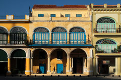 Arches of Plaza Vieja Stock Photography