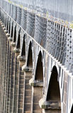 Arches of the Pontcysyllte aquaduct in Wales Royalty Free Stock Photography