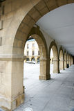 Arches and porches. In Amorebieta, Vizcaya, Spain Stock Photography