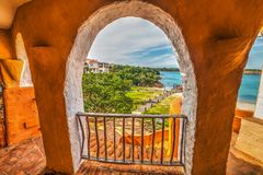 Arches in Porto Cervo Royalty Free Stock Images