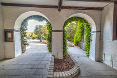 Arches in Porto Rotondo. Sardinia royalty free stock photos