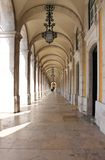Arches in Praca do Comercio Royalty Free Stock Photo