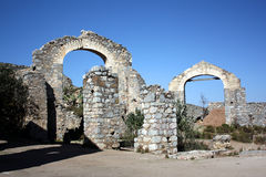 Arches in Real de Catorce. Arches of the ruins of the ghost town in real de catorce in san luis potosi, mexico Royalty Free Stock Images