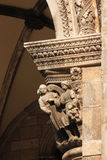Arches. Rector Palace porch. Dubrovnik. Croatia Stock Photo