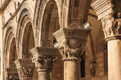 Arches. Rector's Palace porch. Dubrovnik. Croatia Stock Photo