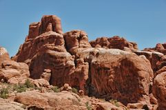 Arches rock formations Stock Images