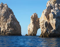 Arches and Rock Formations Off the Coast of Cabo San Lucas. Closeup of the Arch and Rock Formations off the Coast of Cabo San Lucas, Mexico Stock Photos