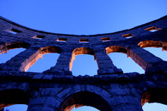 Arches of the Roman amphitheatre Royalty Free Stock Photo