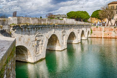 Arches of the Roman bridge Stock Image
