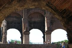 arches, Roman Colosseum Stock Photography