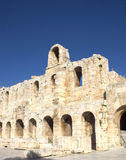 Arches of the roman theater under Acropolis Royalty Free Stock Photo