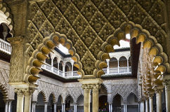 Arches in Royal Alcazar of Seville, Spain Stock Photography