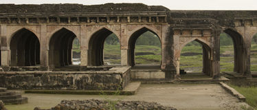 Arches and Ruins of Historic Water Palace India royalty free stock photos