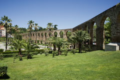 Arches of San Anton, Aqueduct of Caceres. Spain Stock Photos