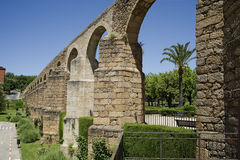 Arches of San Anton, Aqueduct of Caceres. Spain Royalty Free Stock Images