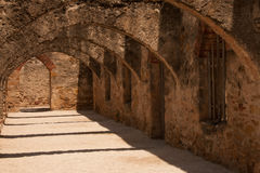 Arches in San Jose Mission. In San Antonio, Texas Royalty Free Stock Image