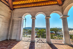 Arches in Santa Barbara courthouse Royalty Free Stock Images