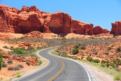 Arches Scenic Drive Stock Photography