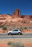 Arches Scenic Drive Royalty Free Stock Images