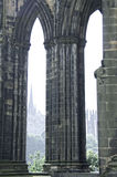 The arches of the Scott Monument Royalty Free Stock Photography