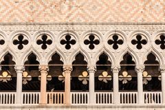 Arches and Scrollwork in Doge`s Palace. Details Arches and Scrollwork in Doge`s Palace Stock Photo