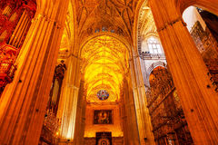 Arches Seville Cathedral Spain Royalty Free Stock Images
