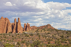 Arches state park in Utah. Just driving through the state park brings you to another planet Royalty Free Stock Photography
