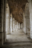 Arches of stone in aranjuez, world heritage, gardens of the isla Royalty Free Stock Image