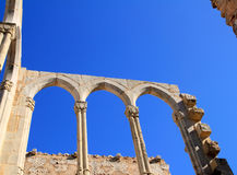 Arches structure of ancient Monastery in Spain Stock Photos