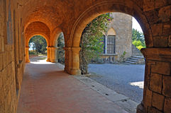Arches and sun Stock Image