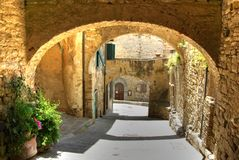 Arches in the sun, Italy Stock Image