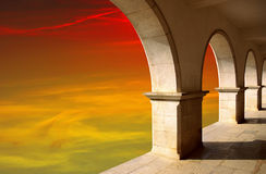 Arches at Sunset Stock Images