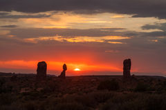 Arches Sunset Royalty Free Stock Images