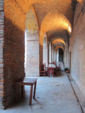 Arches with Tables, Argentina Royalty Free Stock Photos