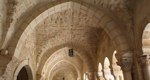 Arches of the terrace Royalty Free Stock Images
