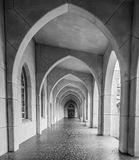 Arches to Door BW Royalty Free Stock Photography