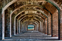 Arches to the ocean Royalty Free Stock Images