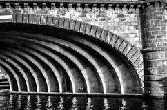 Arches unde a bridge in city of berlin Stock Images