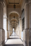 Arches and vaults of Palacio del Centro Asturiano. Stock Photography