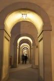 Arches on Via dei Georgofili Street, Florence,. Italy Stock Photos