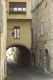 Arches in a vintage street from Tuscany Stock Photography