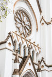 Arches and Windows on White Church Royalty Free Stock Image