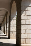 Arches in Xiamen University campus, southeast China Stock Photo