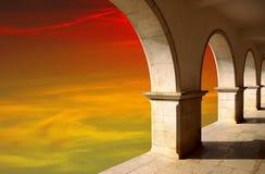Archi al tramonto Immagini Stock