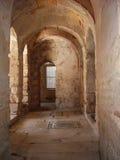 Archi bizantini antichi della chiesa Fotografia Stock